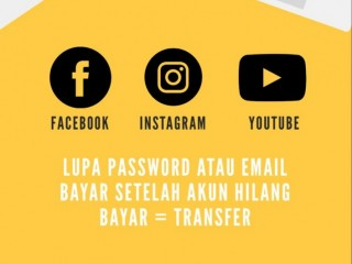 Jasa Hapus Akun Facebook, Instagram, Youtube