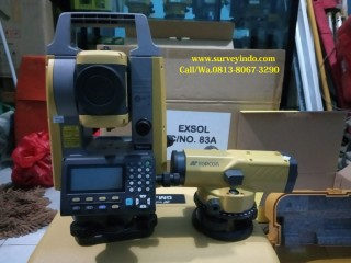 (JUAL) Total Station Topcon GM-52+Wp Topcon ATB-4A