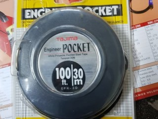 Meteran tajima engineer pocket 10/20/30 meter 66 ft // HARGA MURAH HUB 082124100046