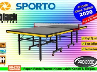 Tenis meja pingpong merk SPORTO BLACK EDITION